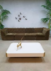 Vintage design velvet modular sofa seating elements elementen bank Laauser