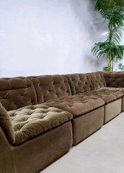 midcentury vintage elements sofa seating group velvet sixties seventies design Laauser