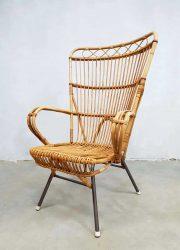 vintage rattan armchair lounge fauteuil rotan Rohe Noordwolde