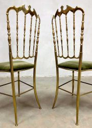 midcentury modern brass dining chair luxury glamour Italian design eetkamerstoel goud Italiaans