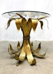 Italian gilt leaf coffee table tole table side table gilded gold bijzettafel