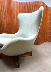 retro fauteuil wingback stoel relax fauteuil egg chair deens scandinavisch