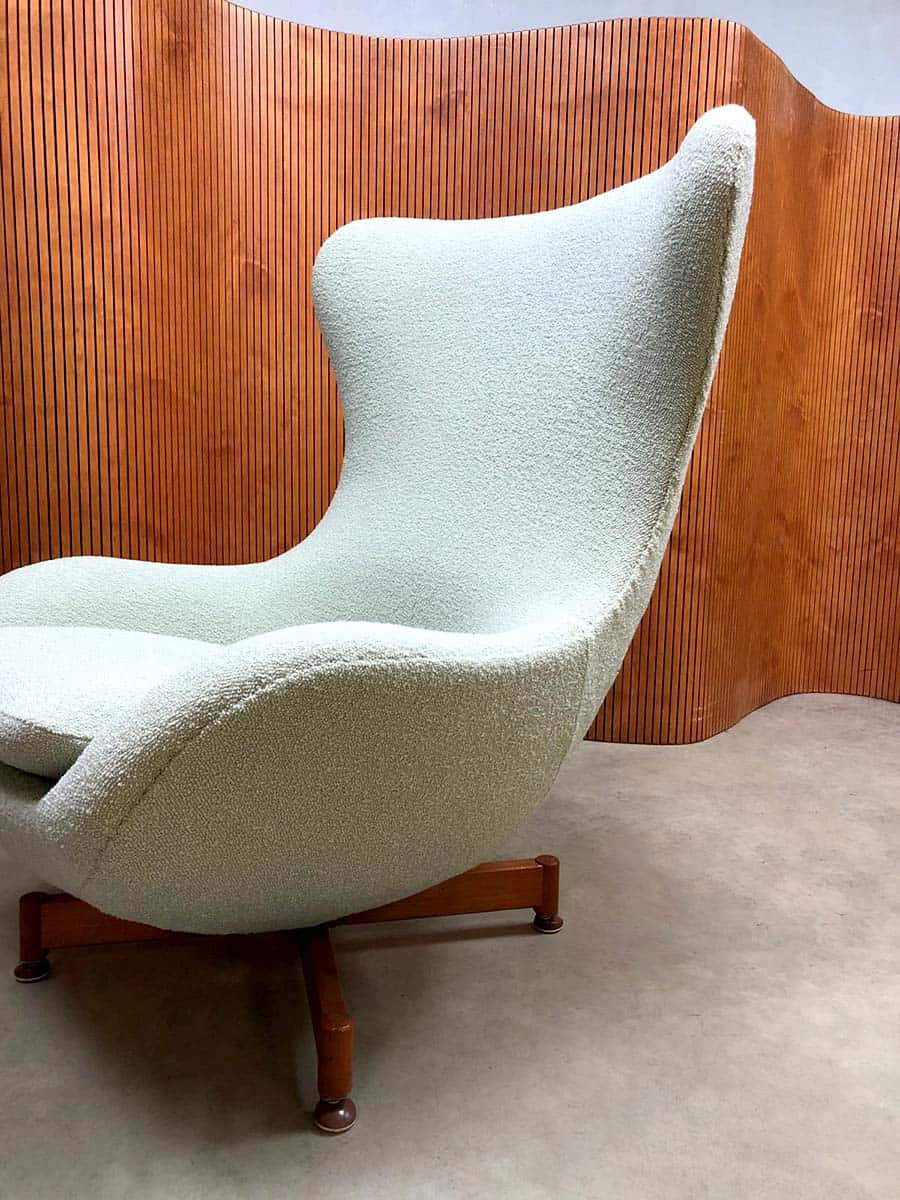 Retro Design Fauteuil.Vintage Design Wingback Chair Egg Chair Swivel Chair