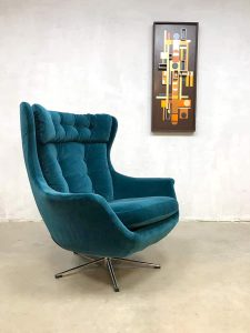 Vintage retro egg chair swivel wingback chair draaifauteuil