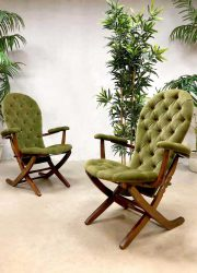 French midcentury modern folding chairs vintage safari chair