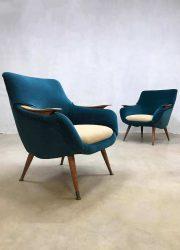 Deense vintage design stoelen lounge chairs Danish Scandinavian design