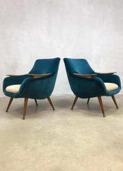 Unique vintage Danish design armchairs Deense fauteuils clubchair 'pure Luxury'