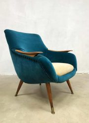vintage club fauteuil arm chair loungechair fifties design midcentury modern
