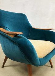 vintage retro club fauteuil arm chair loungechair fifties design midcentury modern