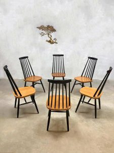Dutch Design Fauteuil Gebr Jonkers Pastoe Jaren 60 Retro.Vintage Dutch Design Spindle Back Dinner Dining Chairs Spijlen