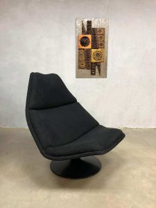 Dutch vintage design swivel chair draaifauteuil F511 Geoffrey Harcourt Artifort