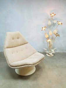 Artifort Dutch vintage design swivel chair draaifauteuil F511 Geoffrey Harcourt