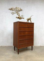 Deense vintage design ladekast Danish chest of drawers Scandinavian XL
