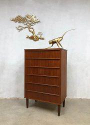 midcentury design cabinet chest of drawers Scandinavian Danish ladekast wandkast
