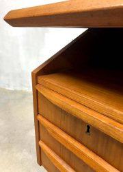 vintage teak bureau office desk retro design