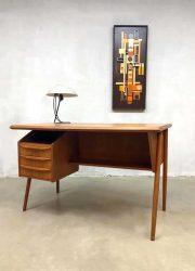 vintage Scandinavian teak design office desk Tibergaard