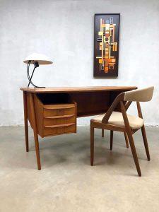 Danish midcentury design desk Deens vintage teak bureau Tibergaard