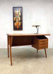 jaren 60 vintage design teak bureau buro office desk Danish design