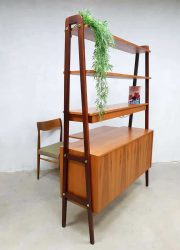 midcentury vintage design wall unit roomdivider secretaire Danish Deens design