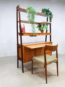 Swedish vintage design room divider desk cabinet wall unit Zweeds bureau