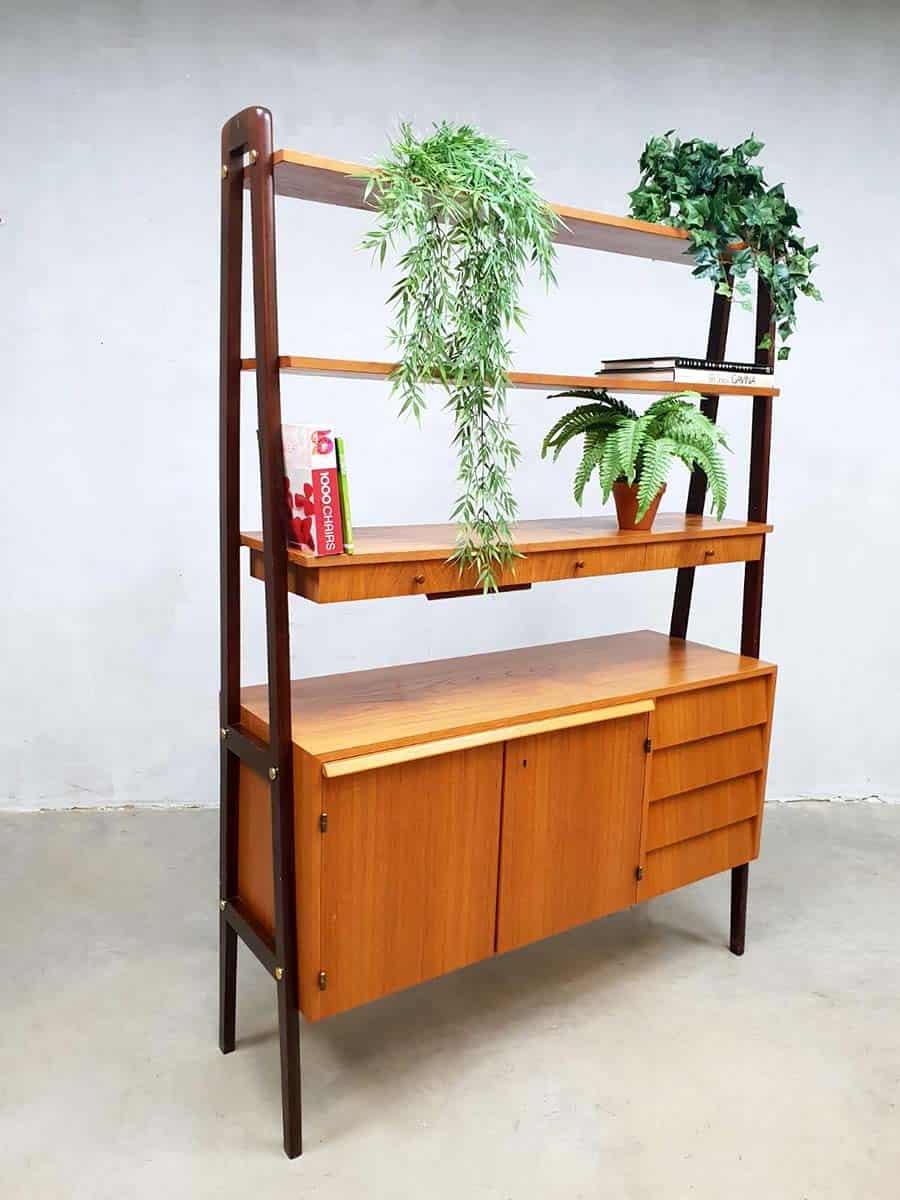 Bureau Scandinavisch Design.Swedish Vintage Design Room Divider Desk Cabinet Wall Unit Zweeds Bureau