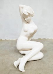 Vintage ceramic art deco sculpture nude lady Cortendorf RS beeld