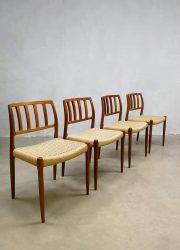Vintage dining chairs eetkamer stoelen Niels Moller J. L. Møllers Model 83