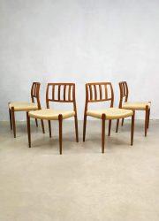 midcentury design Moller eetkamerstoelen dining chairs model 83