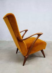 vintage Danish design arm chair midcentury modern lounge fauteuil velvet