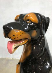 vintage dog statue figurine sculpture hond