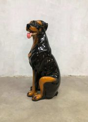 vintage dog hond beeld statue sculpture