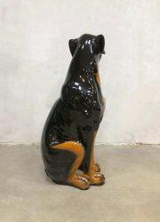 vintage hond deco beeld keramiek ceramic dog rottweiler