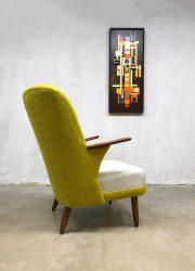 Deense vintage design lounge stoel fauteuil wingback chair Danish design