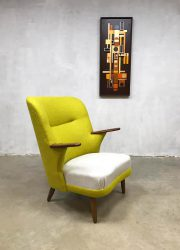 Danish midcentury modern armchair wingback chair vintage lounge fauteuil