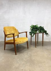 Midcentury modern vintage design yellow arm chair lounge chair