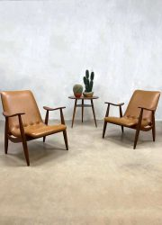 Midcentury modern arm chair Webe Louis van Teeffelen Dutch vintage design lounge fauteuil