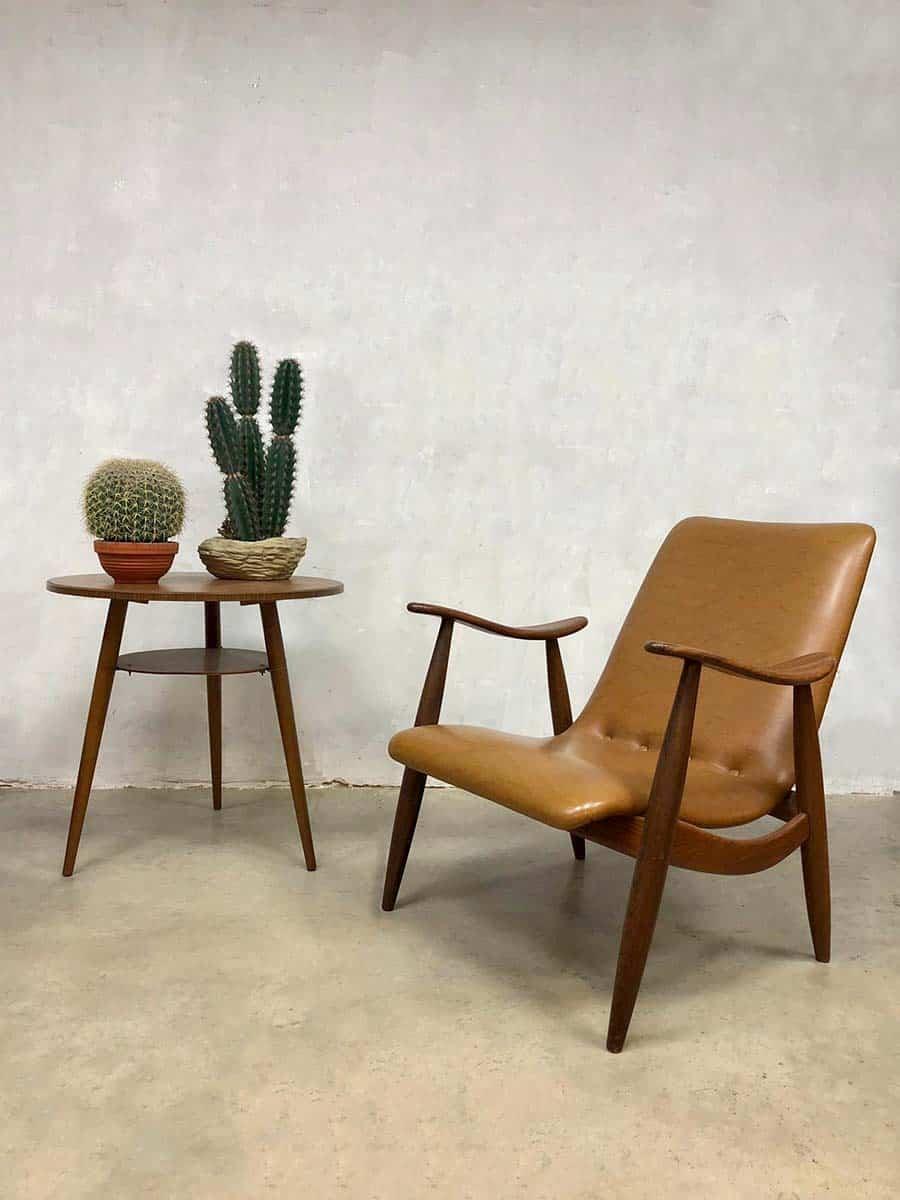 Midcentury Vintage Design Armchair Lounge Chair Webe Louis