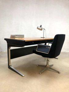 Midcentury modern office desk vintage bureau Osvaldo Borsani Tecno