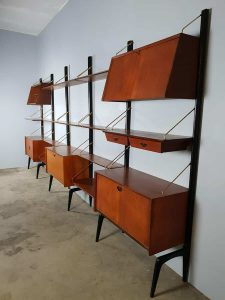 Midcentury modern wall unit Webe Louis van Teeffelen wandmeubel vintage design