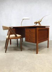 midcentury modern bureau buro Arne Vodder desk teak Denmark Deens
