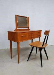 Vintage Danish design dressing table vanity table kaptafel teak fifties sixties