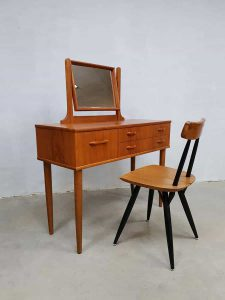 Vintage Danish design dressing table vanity table kaptafel teak fifties sixties