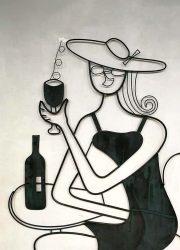 vintage design wall art object sculpture wand deco