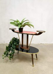 vintage retro plantentafel bijzettafel jaren 50 60 design