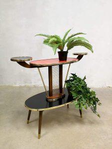 Vintage bijzettafel plant stand plantentafel fifties sixties