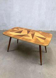 vintage italiaanse salontafel bijzettafel Deense stijl retro coffee table