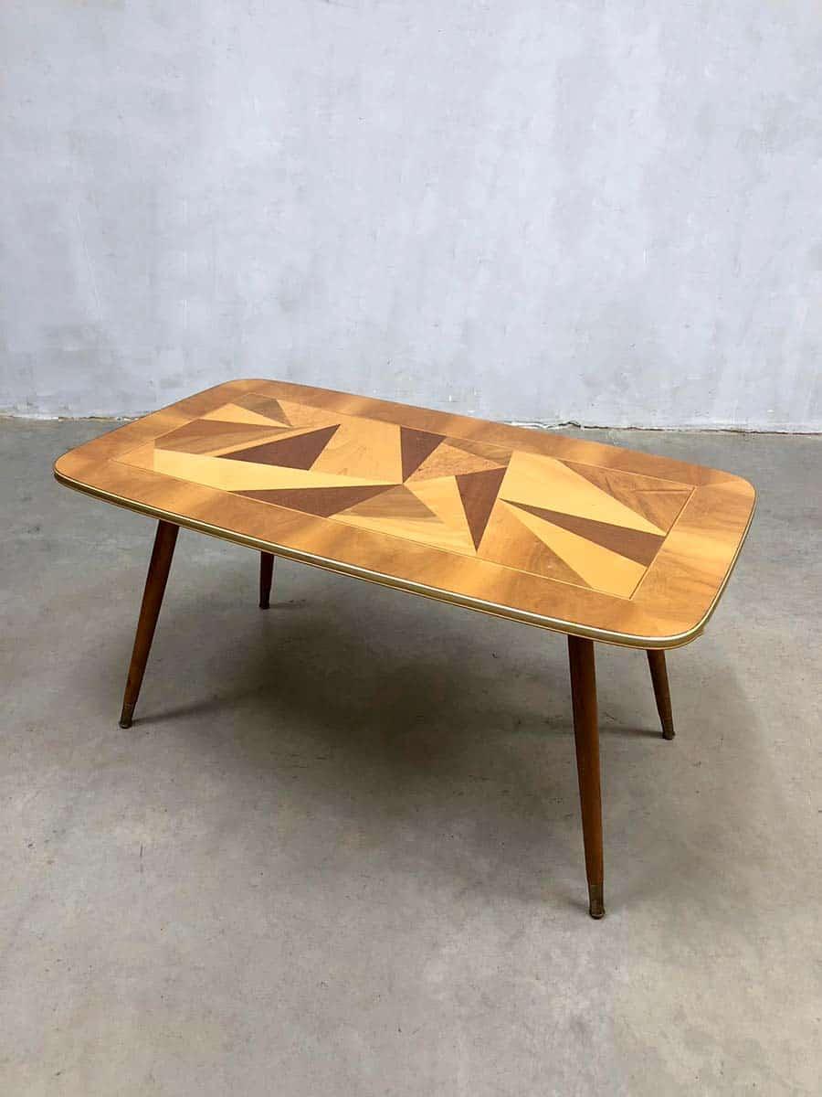 Retro Jaren 60 Salontafel.Vintage Design Coffee Table Fifties Salontafel Bijzettafel Italy