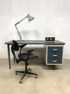 Vintage Industrial writing office desk vintage bureau industrieel Gispen Cordemeyer