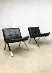 vintage lounge chairs chrome frame madmen stijl Grisberger 1600
