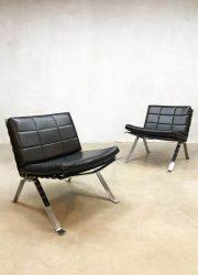 Vintage Madmen lounge chairs fauteuils Hans Eichenberger Girsberger 1600